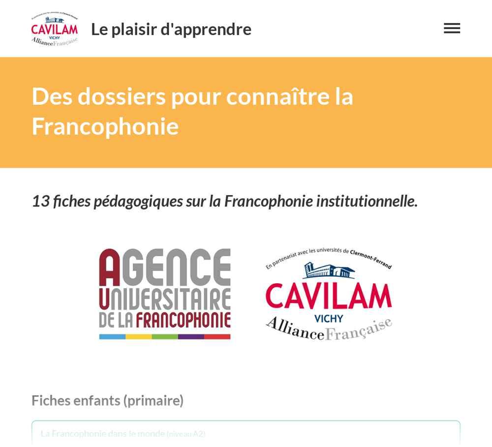 Resultado de imagen de le plaisir d'apprendre francophonie